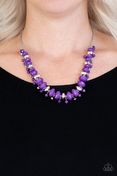 BRAGs To Riches - Purple Necklace-Paparazzi Accessories - GlaMarous Titi Jewels