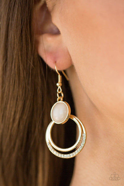 Paparazzi Dreamily Dreamland Gold Moonstone Earrings - GlaMarous Titi Jewels