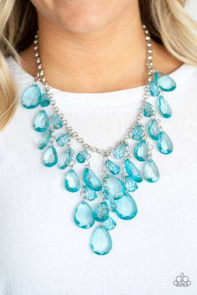 Irresistible Iridescence - Blue Necklace - Paparazzi Accessories - GlaMarous Titi Jewels