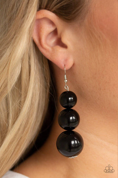 Material World - Black Earrings - Paparazzi Accessories - GlaMarous Titi Jewels