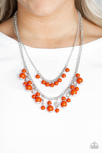 Beautifully Beaded - Orange Bead Necklace - Paparazzi Accessories - GlaMarous Titi Jewels