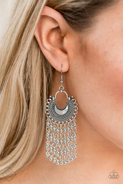 Catching Dreams  Silver Earrings - Paparazzi Accessories - GlaMarous Titi Jewels