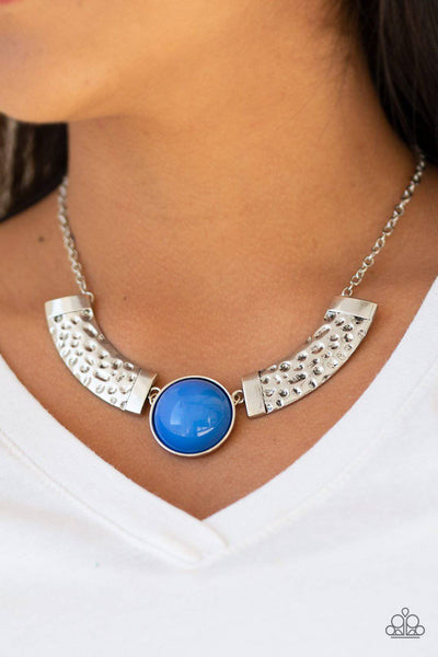 Egyptian Spell -Blue Bead Necklace - Paparazzi Accessories - GlaMarous Titi Jewels