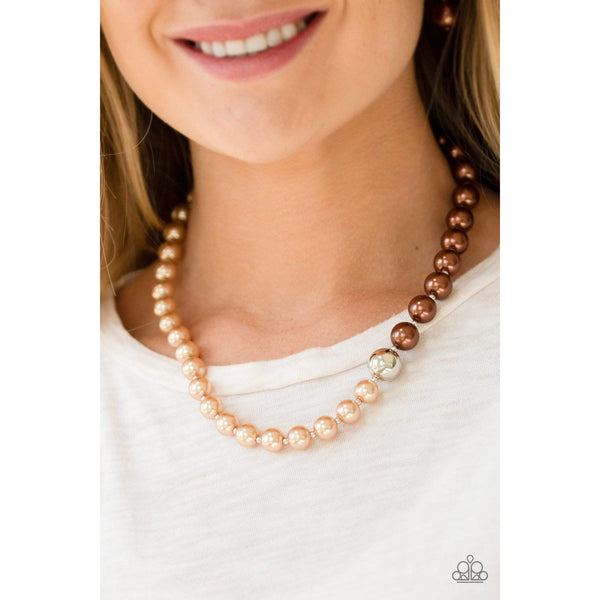 5th Avenue A-Lister - Brown Pearl Necklace - Paparazzi Accessories - GlaMarous Titi Jewels