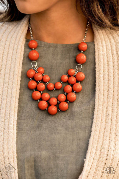 Miss Pop-YOU-larity - Orange Bubbly Bead Necklace - Paparazzi Accessories - GlaMarous Titi Jewels