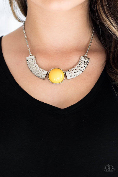 Egyptian Spell - Yellow Bead Necklace - Paparazzi Accessories - GlaMarous Titi Jewels