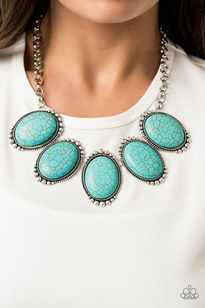Prairie Goddess - Turquoise Blue Stone Necklace - Paparazzi Accessories - GlaMarous Titi Jewels