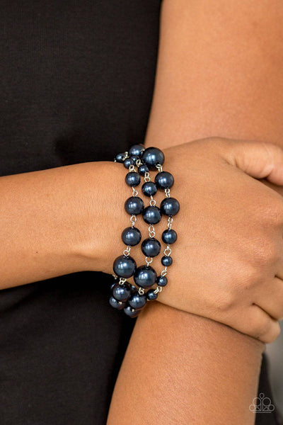 Until The End Of TIMELESS - Blue Pearl Bracelet - Paparazzi Accessories - GlaMarous Titi Jewels