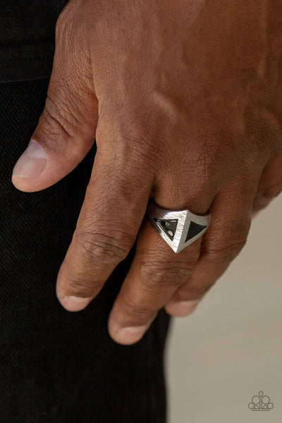 Paparazzi Crusader Men's Triangle Ring - GlaMarous Titi Jewels