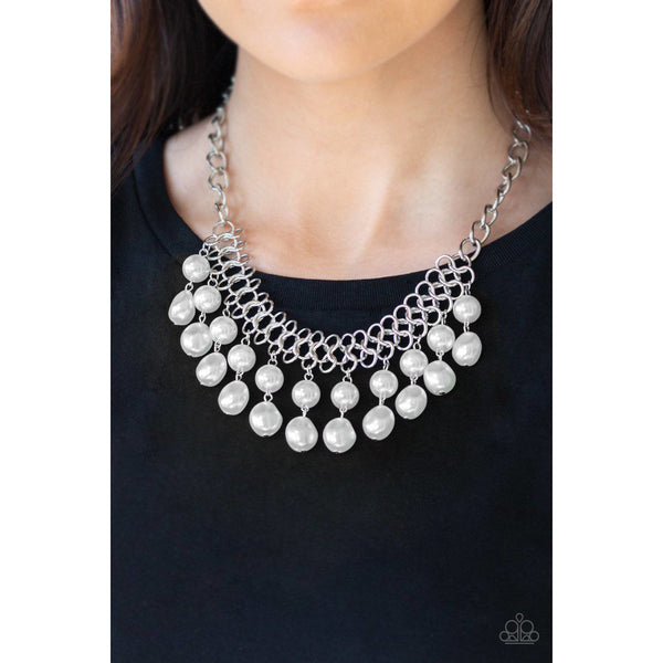 5th Avenue Fleek - White Pearl Necklace - Paparazzi Accessories - GlaMarous Titi Jewels