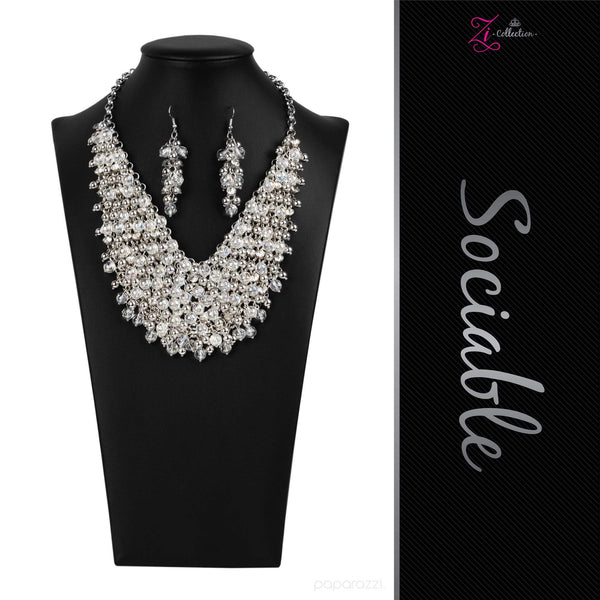 Sociable - 2020 Zi Collection Necklace Set - Paparazzi Accessories - GlaMarous Titi Jewels