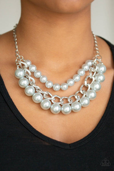 Empire State Empress - Silver Pearl Necklace - Paparazzi Accessories - GlaMarous Titi Jewels