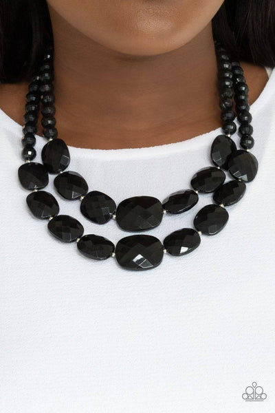 Resort Ready - Black Necklace - Paparazzi Accessories - GlaMarous Titi Jewels