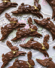 Load image into Gallery viewer, Fake Chocolate Jumping Bunny Brooch