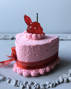 Mini Strawberry Bunny Fake Cake