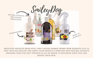 SmileyDog products bring rich, long-lasting aromas drawn from essential oils to keep your dog healthy and happy.