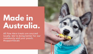 Paw Hero treats are made in Australia