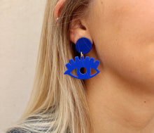 Load image into Gallery viewer, Blue Eye Babe Earrings