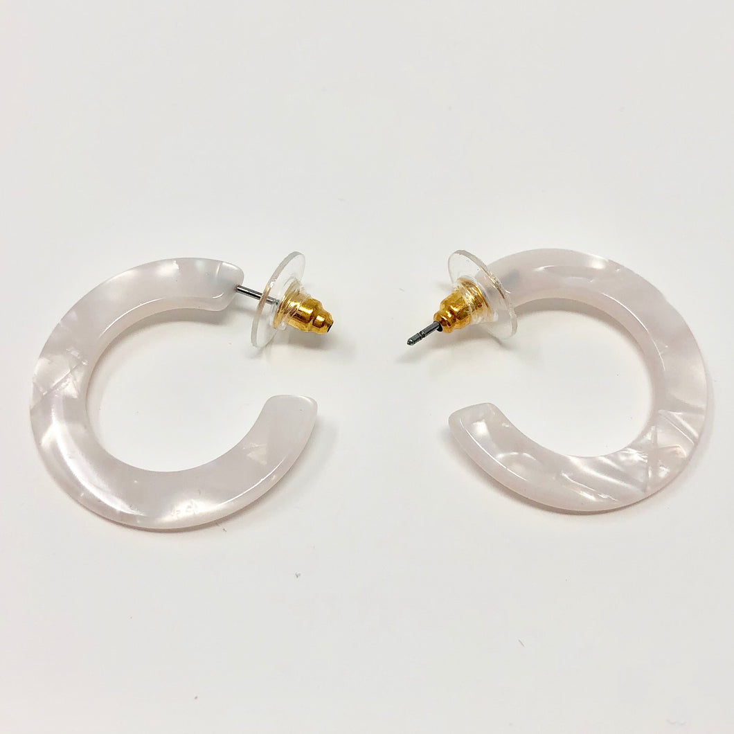 Marbled Pearl Mini Hoops