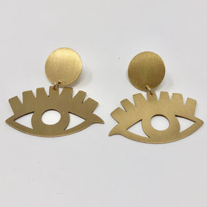 Gold Eye Babe Earrings
