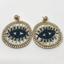Load image into Gallery viewer, The Diva Eye Beaded Earrings