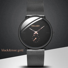 Load image into Gallery viewer, Business Men's Watch Creative Blue Pointer Mesh Belt Ultra-thin Quartz Sports And Leisure Watch Clock Men Gift Relogio Masculino