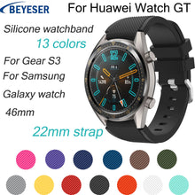 Load image into Gallery viewer, For Huawei watch GT Watchband 22mm Silicone Sport Replacement Watch Men women's Bracelet watches Strap for Samsung Gear S3 bands