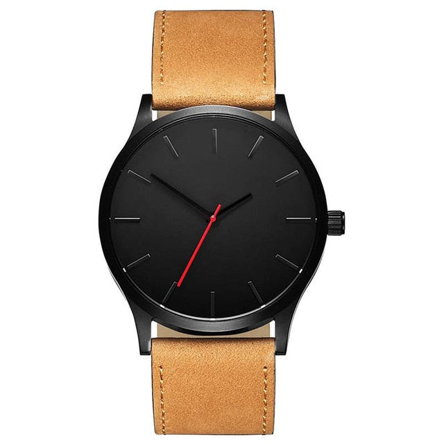 2018 RMM Men's Watch Hot tred Casual Fashion Simple Style Round Dial Classic Design Leather Strap Quartz Watches