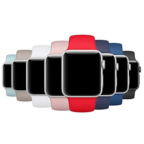 Sports Soft Silicone Band For Apple Watch 4/3/2/1 Men's and Women's Replacement Wrist Strap For Iwatch Series 44/42/40/38mm