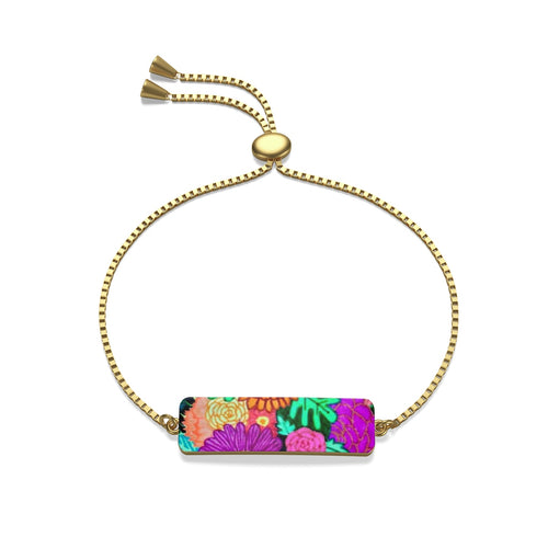 Floral Art Box Chain Bracelet