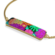 Load image into Gallery viewer, Floral Art Box Chain Bracelet
