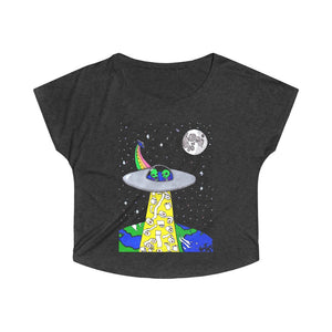 """Toilet Paper Abduction"" Women's Tri-Blend Dolman"