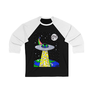"""Toilet Paper Abduction"" Unisex 3/4 Sleeve Baseball Tee"