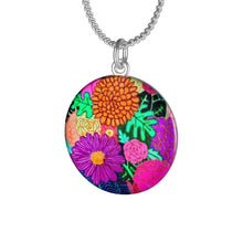 Load image into Gallery viewer, Floral Art Single Loop Necklace