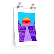 "Load image into Gallery viewer, ""Jet Blue"" Artwork Posters"