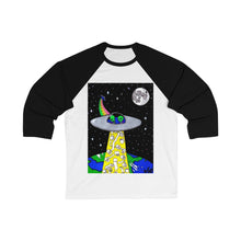 "Load image into Gallery viewer, ""Toilet Paper Abduction"" Unisex 3/4 Sleeve Baseball Tee"