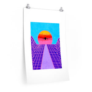 """Jet Blue"" Artwork Posters"