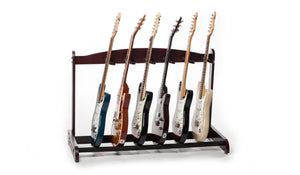 Mahogany Guitar Rack - 6 Slot