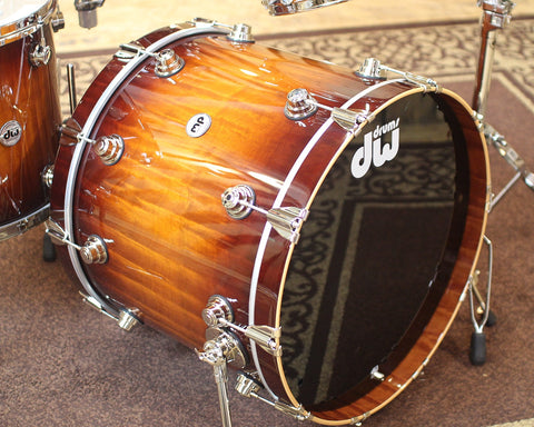 DW Collector's Maple Amber to Tobacco Burst Over Macore Drum Set w/ Nickel Hardware - SO#1138505