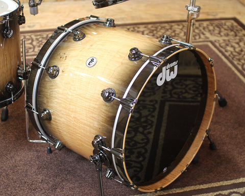 DW Collector's Maple Natural to Candy Black Burst Over Curly Maple w/ Black Nickel HW - SO#1138823