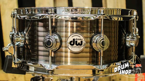 DW Collector's Steel Copper Ribbed 5.5x14 Snare Drum - DRVR5514SCC