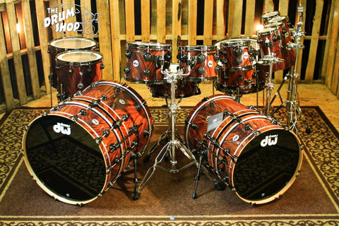 DW Collector's Natural over Mahogany Feather Drum Set - SO# 1078255