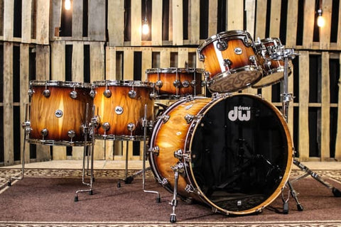 Collector's Pure Almond Natural To Toasted Almond Burst Drum Set - 22, 10, 12, 14, 16, 6.5 - SO# 1115168