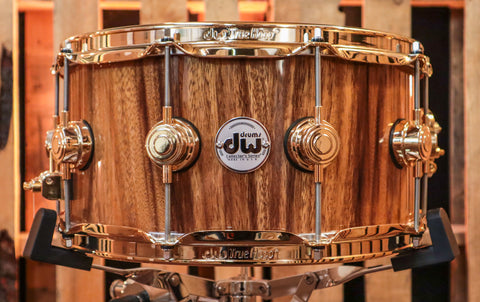DW Collector's Natural Lacquer Over African Chechen 6.5x14 Snare - SO#1188890