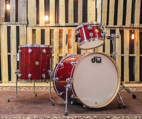 DW Jazz Series Ruby Glass Drum Set - 22,12,16 - SO#846277