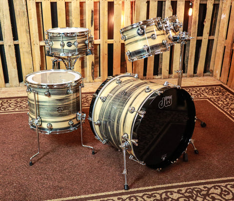 DW Exotic Performance Black Poplar Drum Set - 22,10,12,16,6.5x14 - SO#1157512