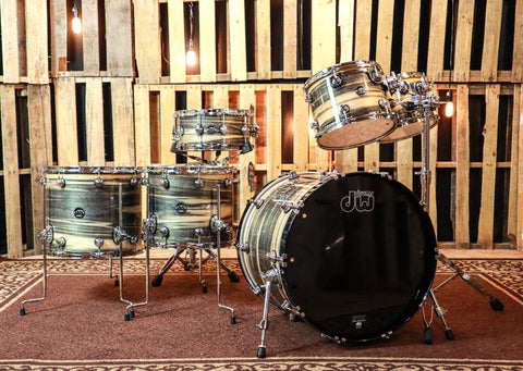 DW Exotic Performance Black Poplar Drum Set - 22,10,12,14,16,6.5x14 - SO#1157502