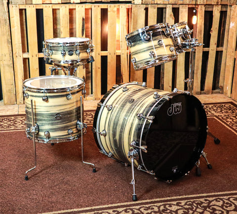 DW Exotic Performance Black Poplar Drum Set - 22,10,12,16,5.5x14 - SO#1157503
