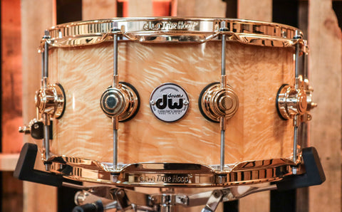 DW Collector's Natural Lacquer Over Angel Pearl 6.5x14 Snare Drum - SO#1188869