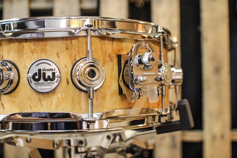 DW Collector's Natural Lacquer Over Kurilian 5x14 Snare Drum - SO# 1119644